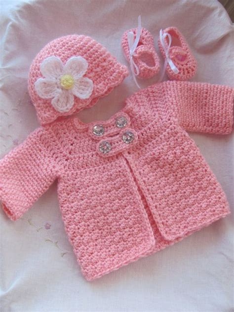 baby cardigan sweater 3 baby crochet sweater jacket hat and by stonehousegals stonehousegals