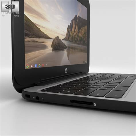 HP Chromebook 11 G3 Twinkle Black 3D model   Hum3D