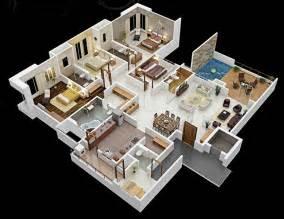 4 Bedroom House Interior Design Planos Para Apartamentos Con 4 Habitaciones