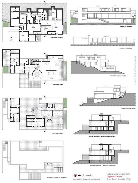 villa tugendhat floor plan tugendhat house plans house plans