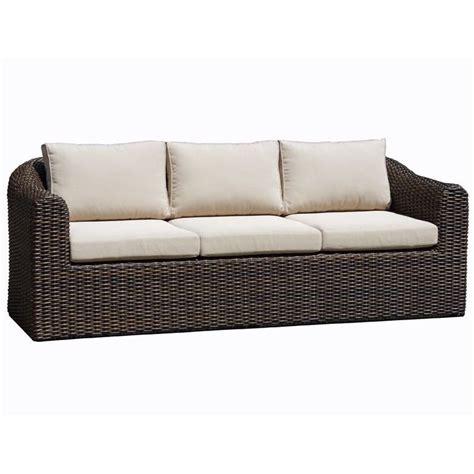3 seater outdoor sofa subiaco outdoor 3 seat wicker lounge sofa brown buy