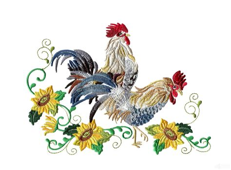 embroidery design rooster swnrr125 rooster embroidery design
