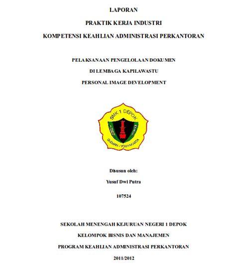 contoh cover laporan pkl download contoh cover lembar pengesahan pendahuluan bab