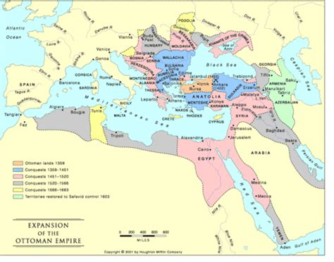 Location Of The Ottoman Empire Resourcesforhistoryteachers I 36