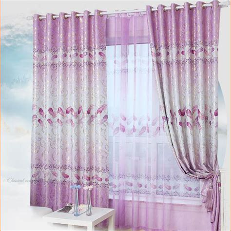 purple room darkening curtains beautiful curtains floral print purple polyester room