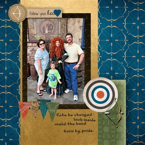 scrapbook layout generator merida brave disney world digital scrapbook layout my