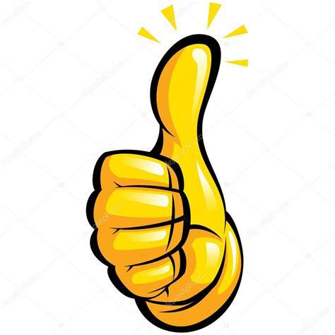 imagenes thumb up mano con el guante amarillo de una manera divertida de