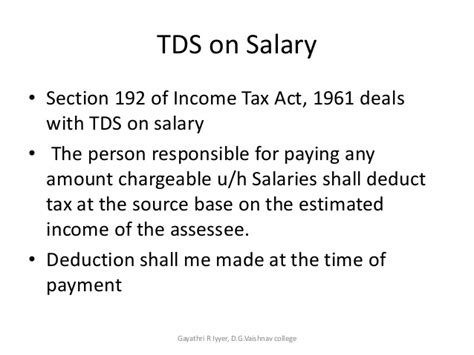 section 16 of income tax act tax deducted at source on salary