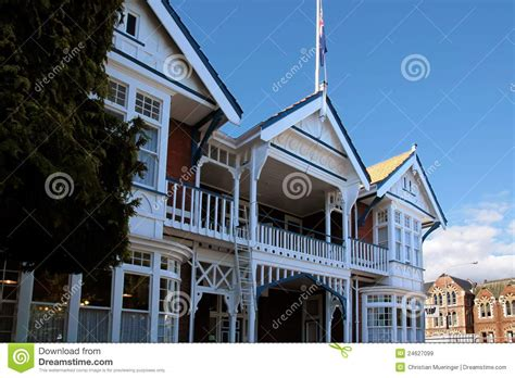 house christchurch historic timber house in christchurch royalty free stock