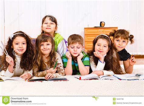 Royalty Free School Children Stock by Reading Books Royalty Free Stock Image Image 18467736