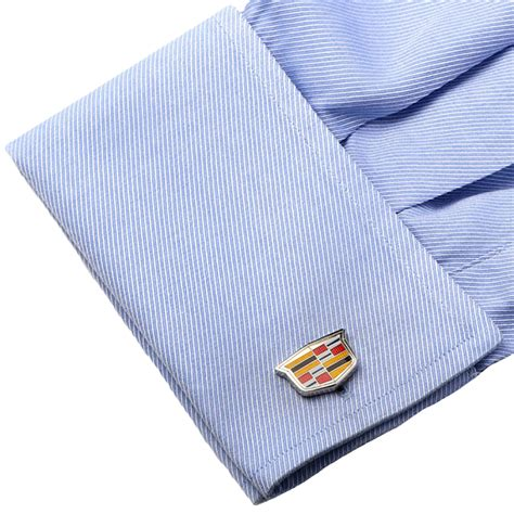 cadillac shield cadillac shield logo cufflinks