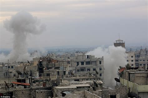 Syarii Mol russia and syria regime launch air strikes on damascus killing 31 civilians daily mail