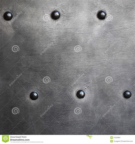 with metal black metal plate or armour texture with rivets stock