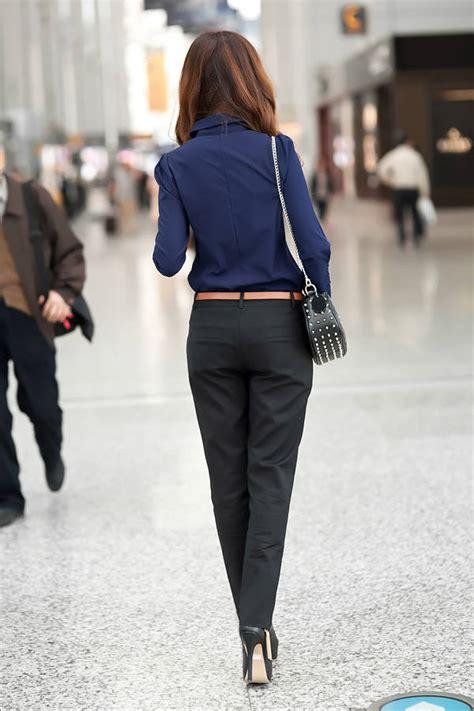 Kemeja Import Ch1 67 kemeja kerja wanita import biru tua lengan panjang model terbaru jual murah import kerja