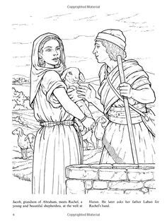 king solomon bible page to color 019 jacob and rachel activity sheets jacob worked for laban