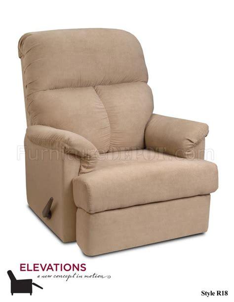 suede recliner chair beige suede microfiber elegant modern recliner