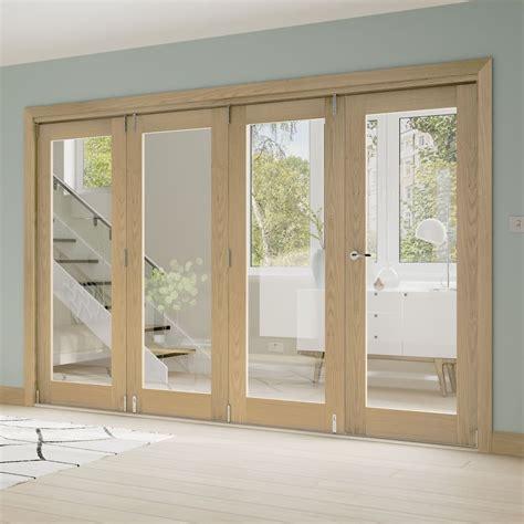 Deanta Fold Oak Unfinished Room Divider Frame Leader Doors Room Divider With Door