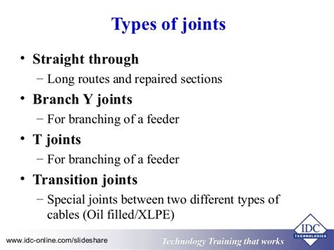 different types of electrical wire joints power cables operation maintenance location and fault