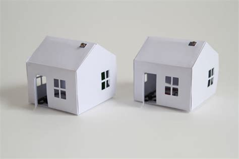How To Make A House Using Paper - a paper house that lights up as it gets