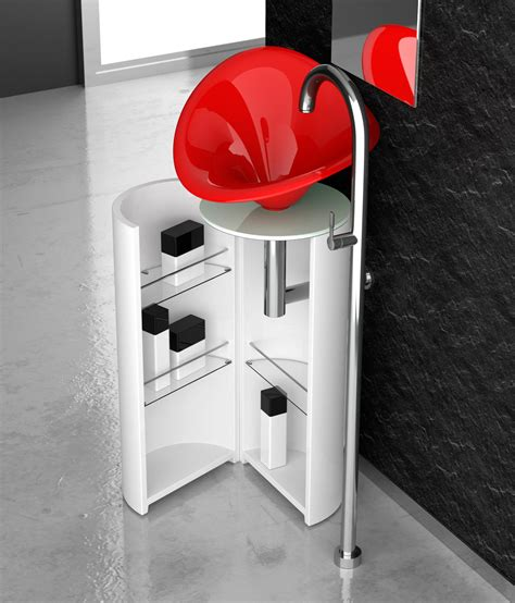 rosso glass koin xl flower vanity units from glass design architonic