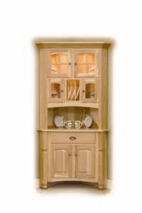 Corner Kitchen Hutch Furniture Amish Hardwood Corner Hutch 3633
