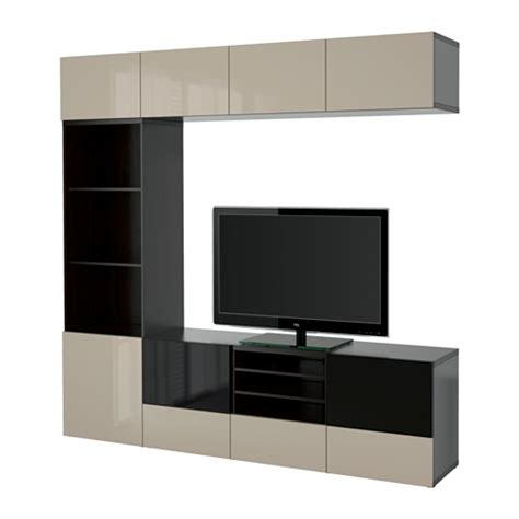 ikea besta tv combination best 197 tv storage combination glass doors black brown selsviken high gloss beige
