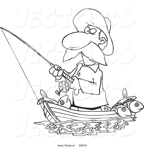 how to draw a fisherman boat coloring pages of fishing man coloring home