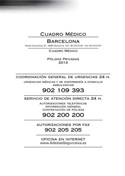 adeslassegurcaixa es cuadro medico gu 237 a m 233 dica adeslas barcelona 2013