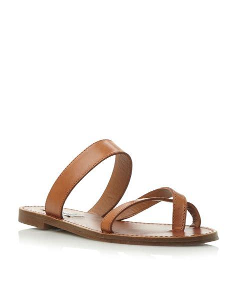 Flat Shoes Sandal Selop Pita 1 steve madden aintso sm strappy ring toe flat sandal in brown lyst
