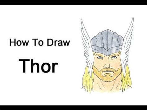how to make easy doodle how to draw thor