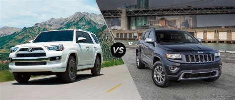 toyota jeep 2016 2016 toyota 4runner vs 2016 jeep grand