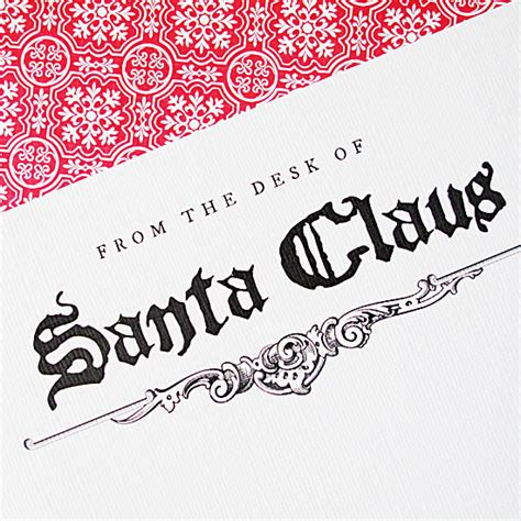 santa letterhead template letter from santa stationery