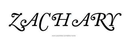 zachary tattoo design zachary name designs