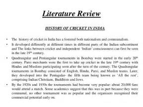 Review Of Literature Research by Literature Review Paper