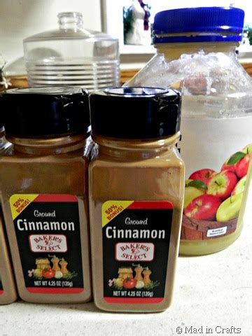 homemade painted cinnamon applesauce ornaments mad  crafts