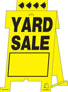 garage amp yard sale tent signs on the hillman group