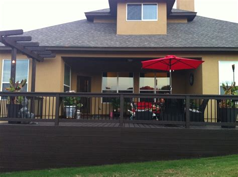 patio deck behr padre brown solid wood stain home landscaping wood stain