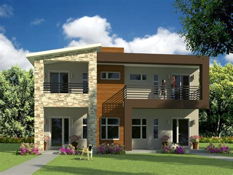 contemporary duplex house plans modern house plans for duplex