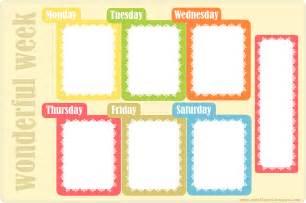 free printable weekly planner ausdruckbarer wochenplan