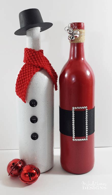 decorate wine bottle for christmas wine bottle