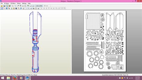 Lightsaber Papercraft - darth malgus lightsaber by skywarpg1 on deviantart