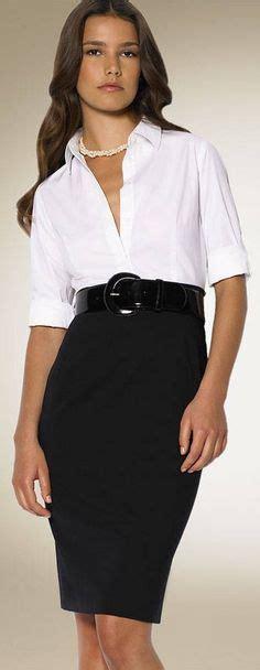 Op5281 Dress Collar Motif Dress Maxi Dress Kode Bimb5758 2 black belted pencil skirt and white blouse office look