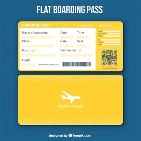 free boarding pass template yellow boarding pass template vector free