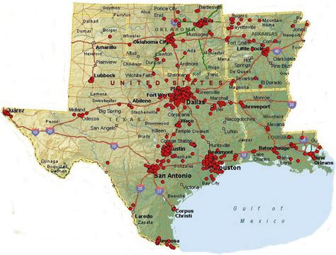 map of texas and louisiana border texas and louisiana map map