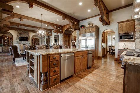 jonas brothers texas home striking rustic kitchen