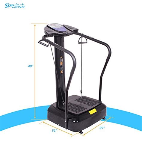 Sale Fit With Mp3 merax 2000w whole fit vibration platform fitness machine withyoga straps and mp3 player