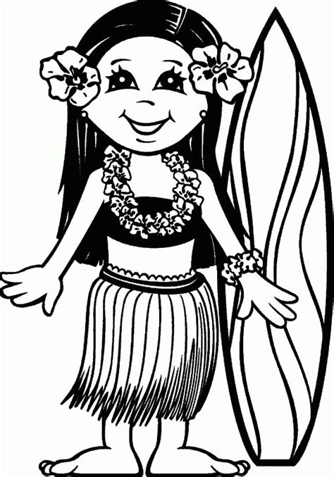 hawaiian boy pages coloring pages coloring pages about hawaii coloring home