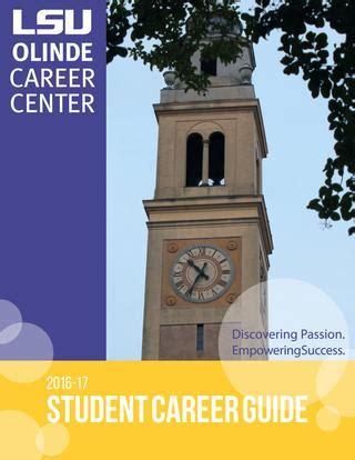 lsu student career guide  lsu division  student affairs issuu