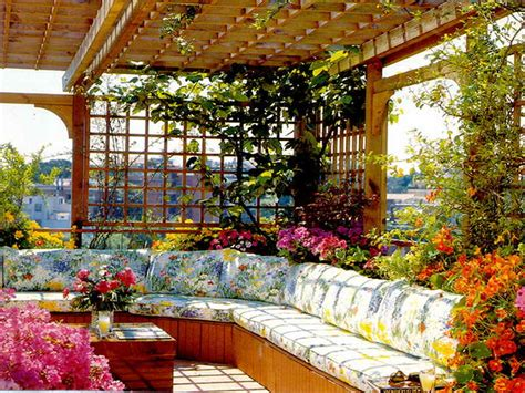 Home Garden Decor Ideas Rooftop Flower Garden Design Ideas Mediterranean Style 1836 Hostelgarden Net