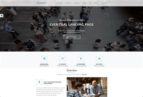 Event Landing Page Templates Themes Free Premium Event Landing Page Template Free